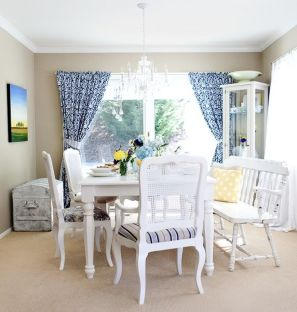 Beautiful shabby chic dining room decor ideas 30