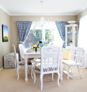 Beautiful shabby chic dining room decor ideas 30