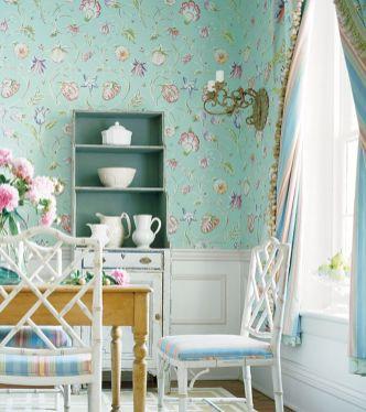 Beautiful shabby chic dining room decor ideas 35