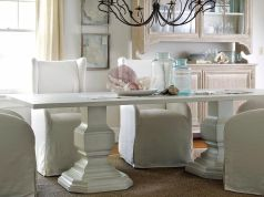 Beautiful shabby chic dining room decor ideas 38