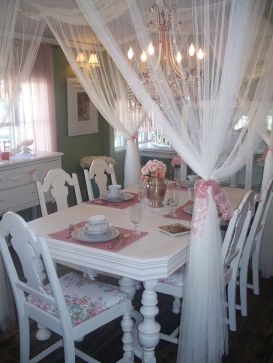 Beautiful shabby chic dining room decor ideas 47