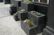 Cinder block furniture backyard 09