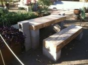Cinder block furniture backyard 14