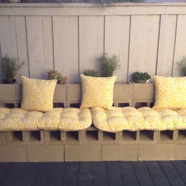 Cinder block furniture backyard 15