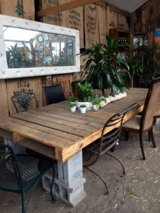 Cinder block furniture backyard 16