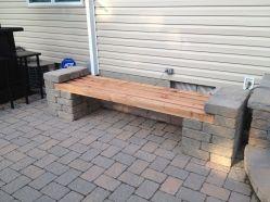 Cinder block furniture backyard 18