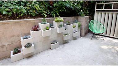 Cinder block furniture backyard 19