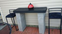 Cinder block furniture backyard 27