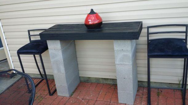 Cinder block furniture backyard 27