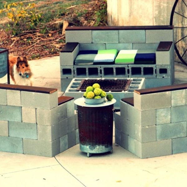 63 Cinder Block Furniture Backyard