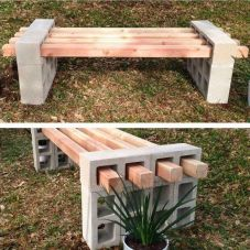 Cinder block furniture backyard 32