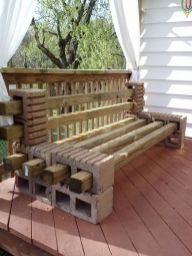 Cinder block furniture backyard 45