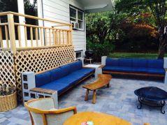 Cinder block furniture backyard 50