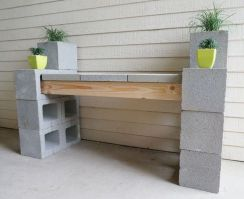 Cinder block furniture backyard 58