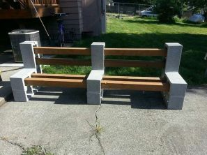 Cinder block furniture backyard 62