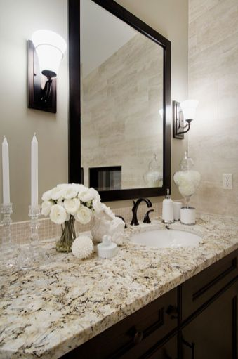 Cool bathroom counter organization ideas 12