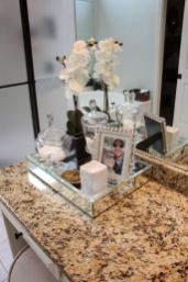 Cool bathroom counter organization ideas 34