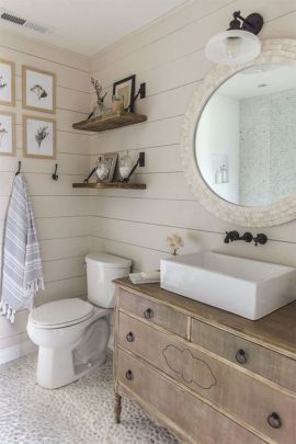 Cool bathroom counter organization ideas 36