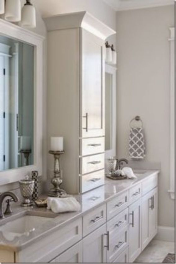 Cool bathroom counter organization ideas 46