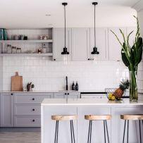 Cool grey kitchen cabinet ideas 01