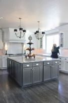 Cool grey kitchen cabinet ideas 04