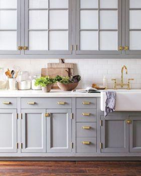 Cool grey kitchen cabinet ideas 21