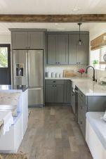 Cool grey kitchen cabinet ideas 23