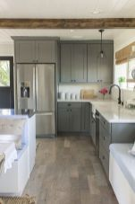 Cool grey kitchen cabinet ideas 23