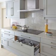 Cool grey kitchen cabinet ideas 36