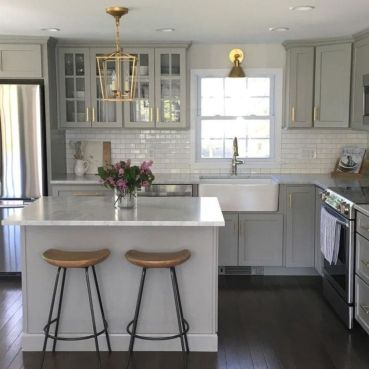 Cool grey kitchen cabinet ideas 38