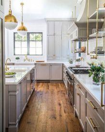 Cool grey kitchen cabinet ideas 49