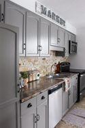 Cool grey kitchen cabinet ideas 53