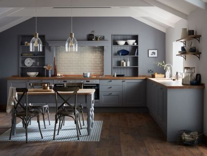 Cool grey kitchen cabinet ideas 56