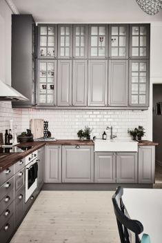 Cool grey kitchen cabinet ideas 62