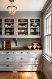 Cool grey kitchen cabinet ideas 68