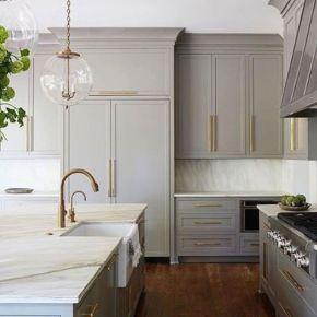 Cool grey kitchen cabinet ideas 77