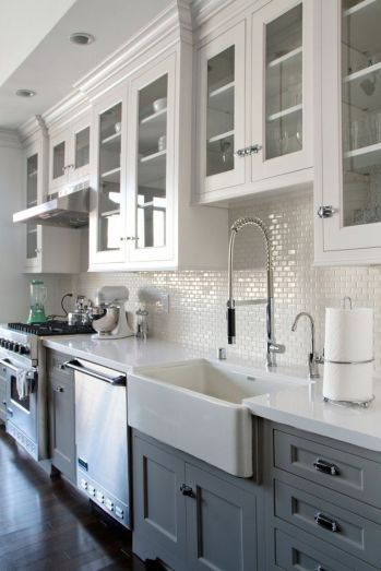Cool grey kitchen cabinet ideas 79