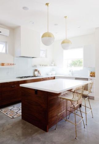 Cool kitchens design ideas with bay windows 18