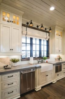 Cool kitchens design ideas with bay windows 23