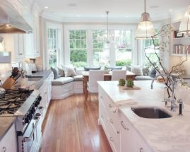 Cool kitchens design ideas with bay windows 25