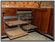Corner kitchen cabinet storage 11