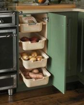 Corner kitchen cabinet storage 24