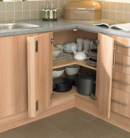 Corner kitchen cabinet storage 36