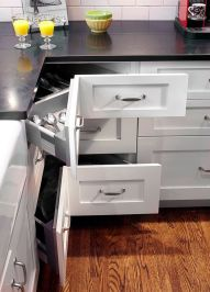 Corner kitchen cabinet storage 46