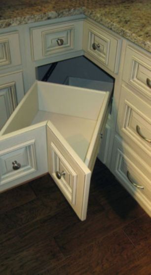 Corner kitchen cabinet storage 54
