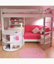 Cute bedroom design ideas with pink and green walls 05