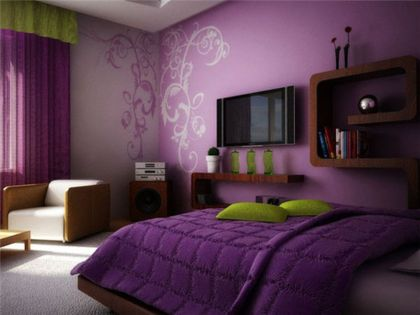 Cute bedroom design ideas with pink and green walls 40