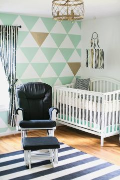 Cute bedroom design ideas with pink and green walls 41