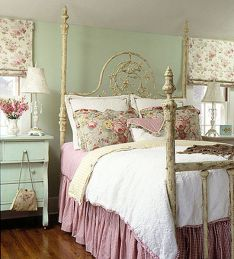 Cute bedroom design ideas with pink and green walls 52