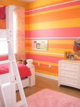 Cute bedroom design ideas with pink and green walls 57